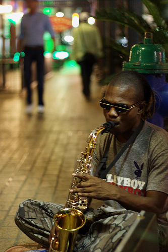 Houston Sax Player 1