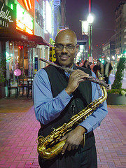 Houston Sax Player 3