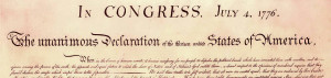 heading of Declaration of Independence